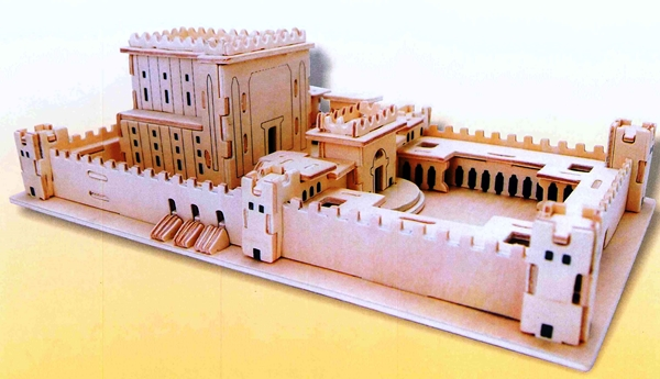 """פאזל תלת מימד """"בית המקדש""""  - מעץ ומגנט"""