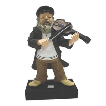 """תמונה של חסיד מנגן בכינור 48 ס""""מ"""