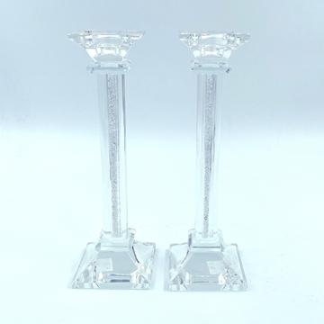"""תמונה של זוג פמוטי קריסטל ושיבוץ אבני קריסטל - 23 ס""""מ"""